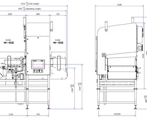 X39 X-ray Inspection System drawing
