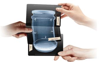 الأشعة السينية من الزجاج التلوث