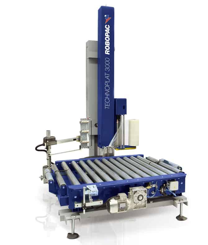 TECHNOPLAT 3000 ، robopac ، تغليف alika ، آلة تغليف في الخط