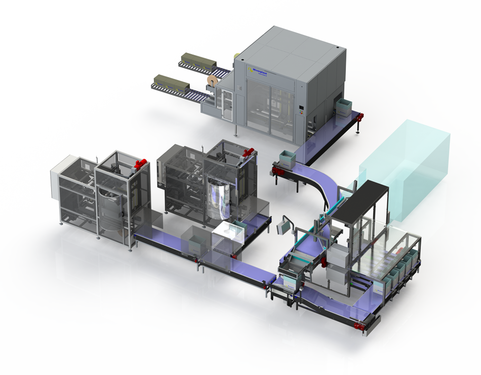 FULL AUTOMATIC FISH PACKING LINE, packing machine for fish,Niverplast