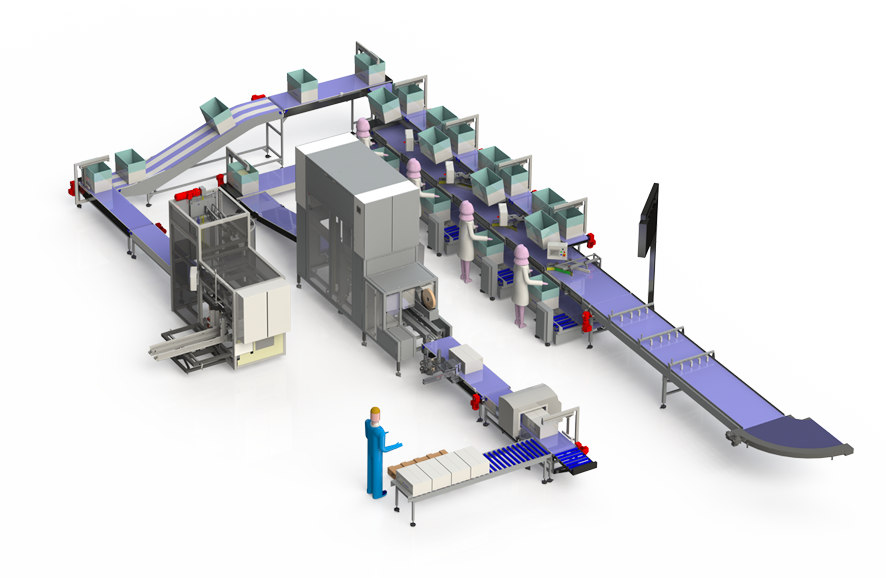 SEMI AUTOMATIC PACKING LINE