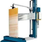 vertical stretch wrapping machine, Robopac, stretch wrap