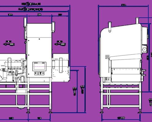 رسم نظام التفتيش بالأشعة السينية X39