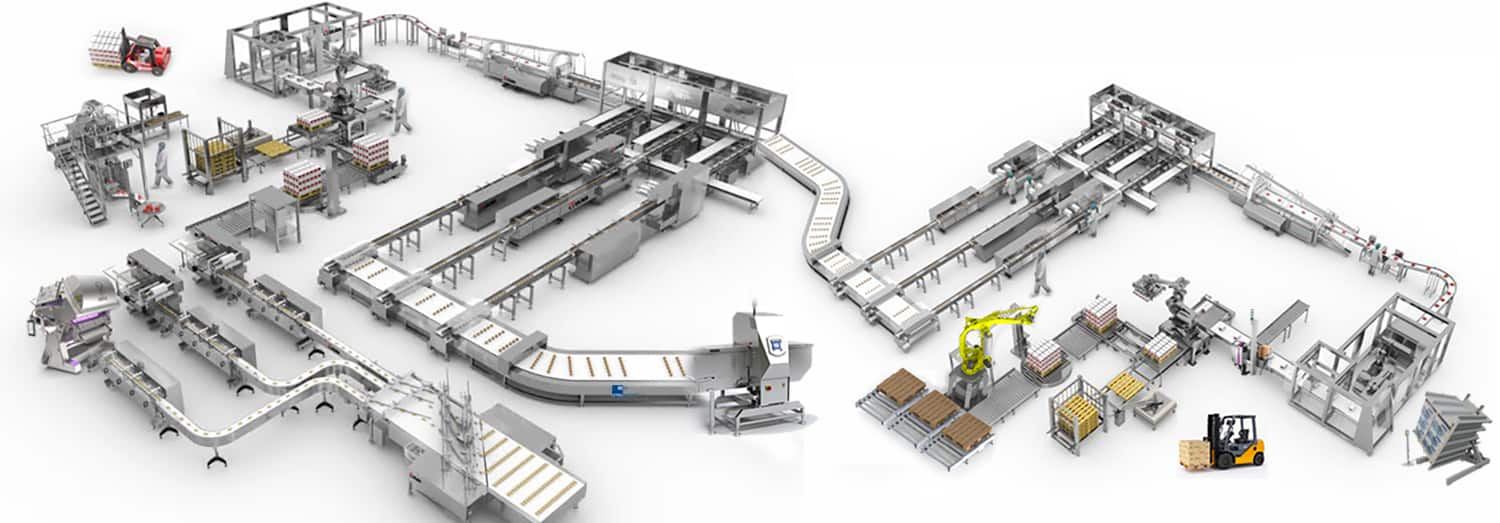 Al Thika Packaging complete line,packaging line integration,end of lines,