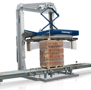 Al Thika Packaging, wrapping,pallet wrapper,stretch wrap,Vertical stretch wrapping machines,wrapping solutions,Robopac sistemi,Genesis HS50/2