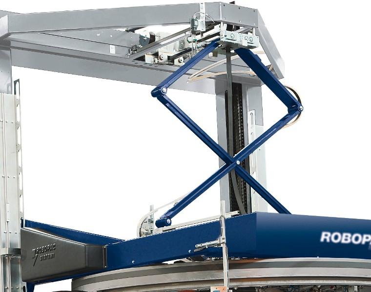 Vertical pressure platen, robopac