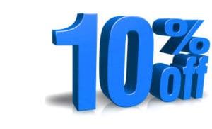 قطع غيار ، الثكة للتغليف ، خصم بنسبة 10 ، 10٪ خصم