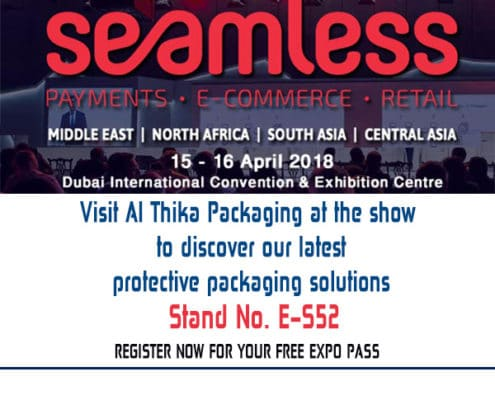Dubai World trade Centre,exhibition,2018, Seamless Middle East 2018, Protective packaging