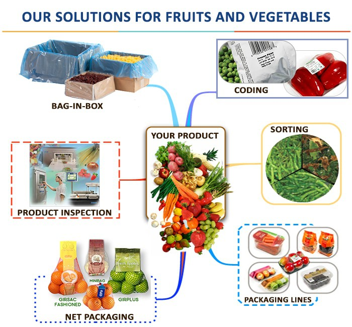 packaging,vegetable packaging,fruit packaging,sorting,wrapping,machinery solutions