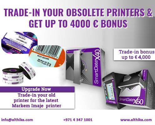 Markem Imaje,Trade In offer,MI printer,TTO printer,2018 offer,Al Thika Packaging