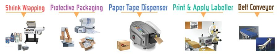 packaging,taping,print and apply labeller,paper tape dispenser,protective packaging,shrink wrapping