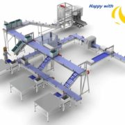 dairy product, Bag-In-Box, packaging, Case erector, bag placing
