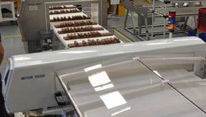 Safeline metal detector, food inspection, quokity test, chocolate inspection, Mettler Toledo