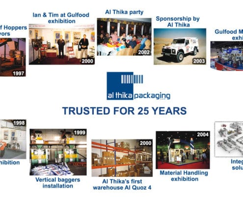 25 years, Al Thika Packaging, trusted for 25 years, history, success, solutions