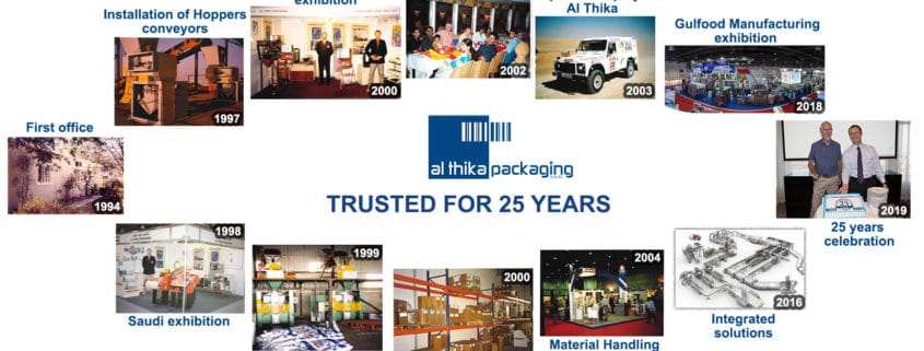 25 years، Al Thika Packaging، موثوق لسنوات 25، التاريخ، النجاح، الحلول