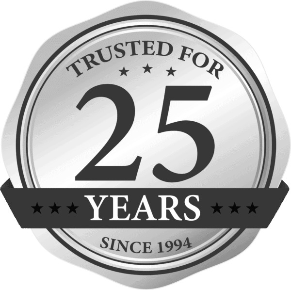 الثيقة للتغليف 25 سنة شعار ، 25 سنة