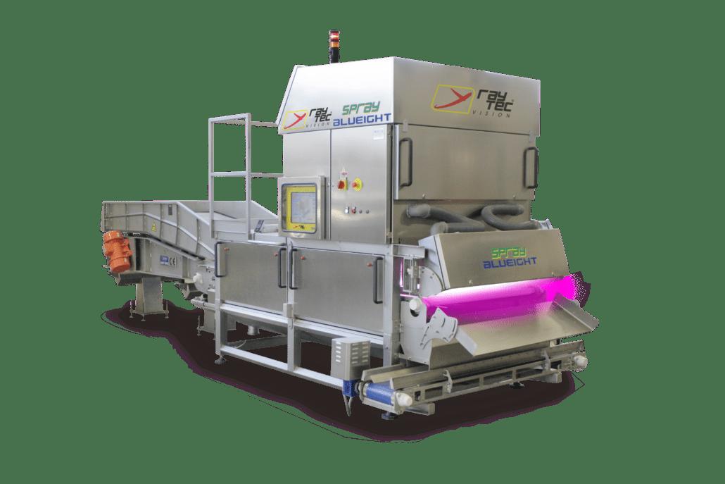Spray sorter, sorting machine, sorter, Raytec Vision sorter
