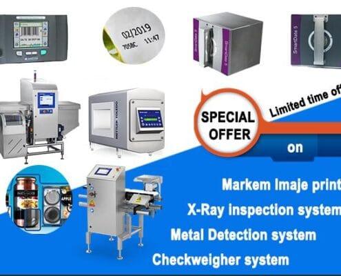 Trade-in campaign, Trade-in markem Imaje printer, Trade-in Mettler Toledo system