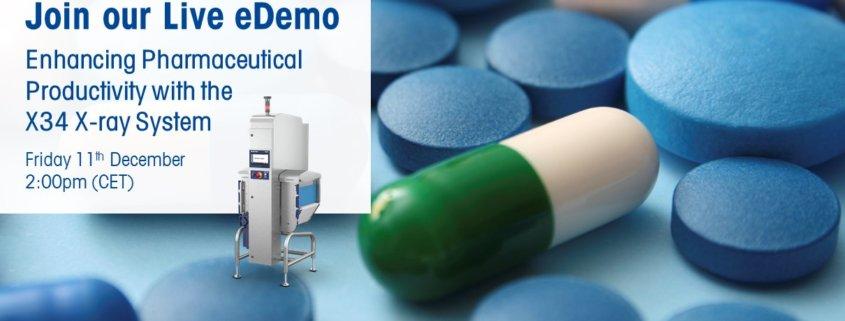 live, free webinar, live webinar, enhance pharmceutical productivity, x34 x-ray system, mettler toledo