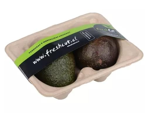 avocados packaging, 100% recycled banding, banding machine
